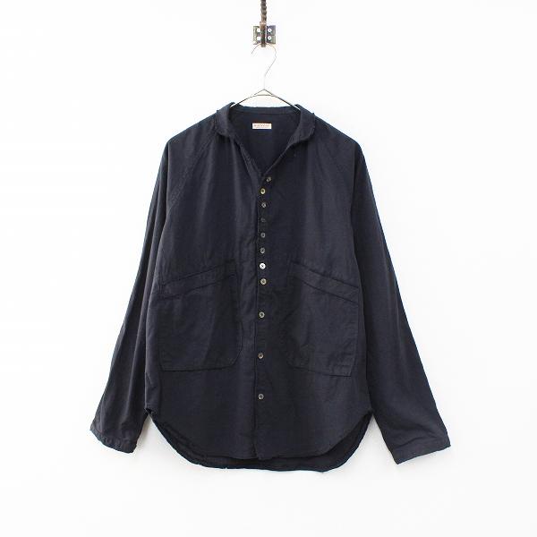 KAPITAL キャピタル EK-516 ブラックブロード バスキアシャツ 1/ブラック スキッパー ブラウス【2400012293434】