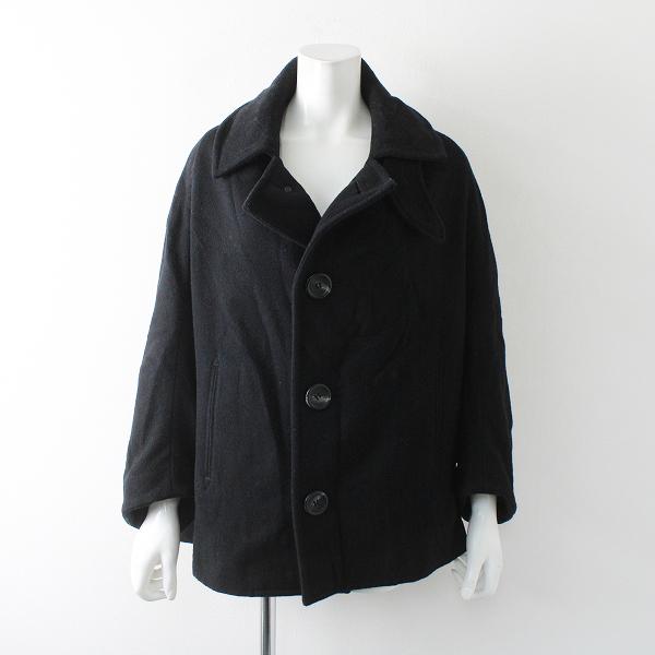 Y's Yohji Yamamoto ワイズ ヨウジヤマモト ウール ワイドドルマン コート 2/ブラック【2400012314351】