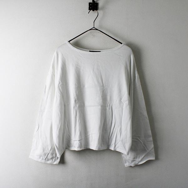 mizuiro ind ミズイロインド ボートネック ワイド コットンカットソー F/ホワイト Tシャツ【2400012316553】