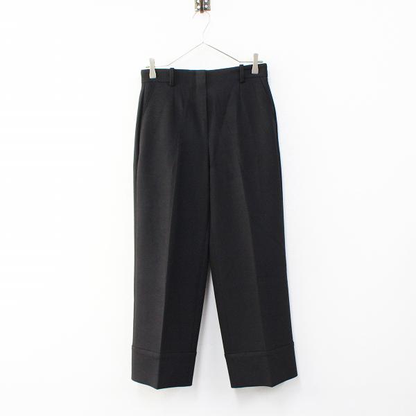 定価2.6万 2020SS Theory セオリー Bistretch Double 3 Wide Cuff Pants ワイドカフパンツ 2/ブラック【2400012320574】