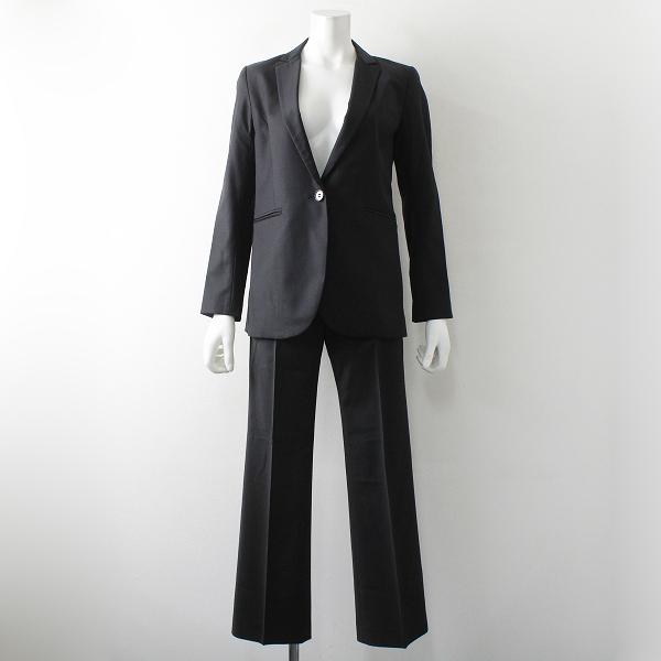 Theory セオリー super tailor スーパーテイラー ウール セットアップスーツ2/ブラック黒 ジャケット パンツ ビジネス【2400012323629】