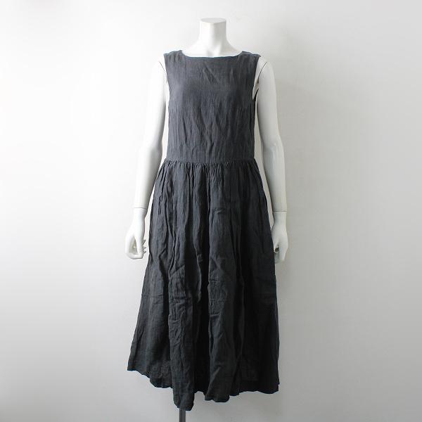 YAECA ヤエカ WRITE 99704 TUCK DRESS タックドレス スリーブレス M/チャコールグレー ワンピース【2400012327504】