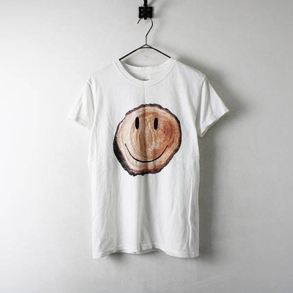 KAPITAL キャピタル 天竺 きこりSMILE Tシャツ 1/ホワイト トップス スマイル【2400012327856】