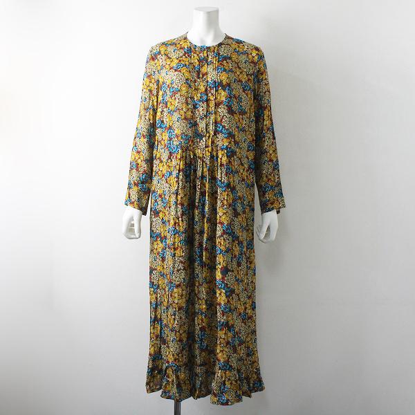 美品 2019AW 定価4.5万 j.s.luxe suzie winkle スージー ウィンクル Flower print dress 40/イエロー ワンピース【2400012328273】-.