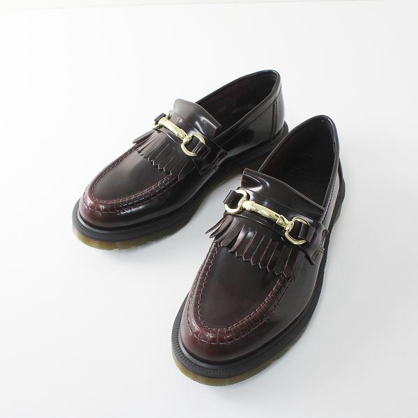 美品 Dr.Martens ドクターマーチン ADRIAN SNAFFLE エイドリアン スナッフル ローファー UK5/チェリーレッド 靴【2400012328518】
