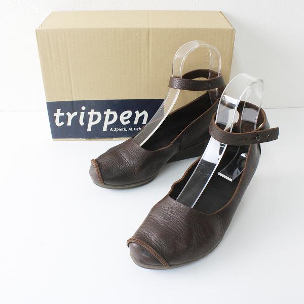 trippen トリッペン Pumps レザーアンクルシューズ 37/エスプレッソ ブラウン【2400012330641】