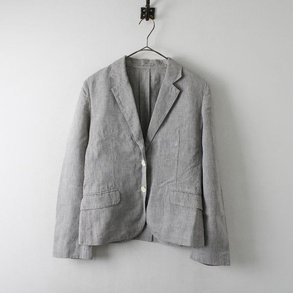 MARGARET HOWELL マーガレットハウエル リネン テーラードジャケット 1/グレー系 トップス【2400012331310】