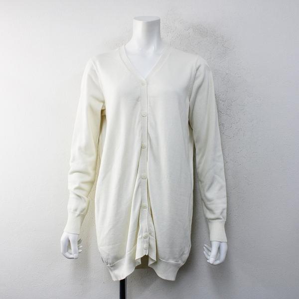 定価3.9万 2019SS MUSE de Deuxieme Classe ドゥーズィエムクラス Silk Cotton カーディガン F/ホワイト【2400012333055】-.