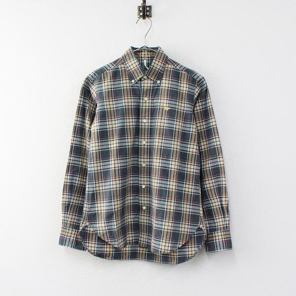 SCYE BASICS サイベーシックス マドラスチェック ボタンダウンシャツ 36/グリーン系【2400012334403】