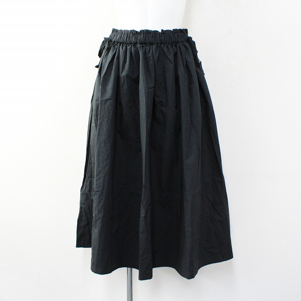 未使用品 sm2rhythm サマンサモスモス リズム シャーリングスカート F/ブラック ボトムス【2400012335875】