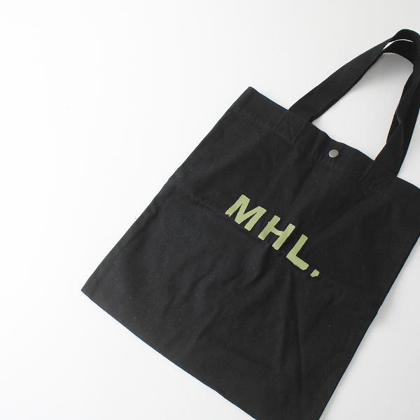 MHL. MARGARET HOWELL マーガレットハウエル ロゴプリント トートバッグ/ブラック【2400012337510】