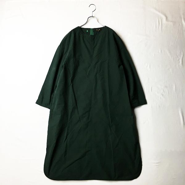 定価6.1万 Drawer ドゥロワー ポプリンワンピース 36/グリーン コットン ドレス【2400012339880】
