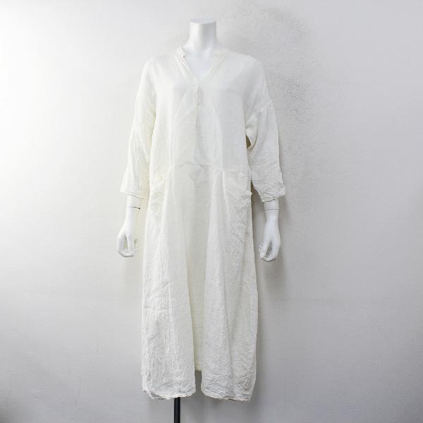 2019年 Manuelle guibal マニュエルギバル DRESS HAKO リネンポケットワンピース 1/キナリ 生成り ドレス【2400012347373】