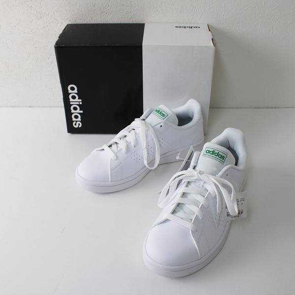 【期間限定30%OFF!】新品 未使用品 adidas アディダス EE7690 ADVANCOURT アドバンコート テニス スニーカー 23.5cm ホワイト レディース【2400012350878】