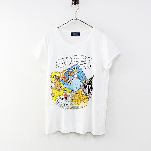 ZUCCa ズッカ プリントTシャツ M/ホワイト カットソー【2400012353541】