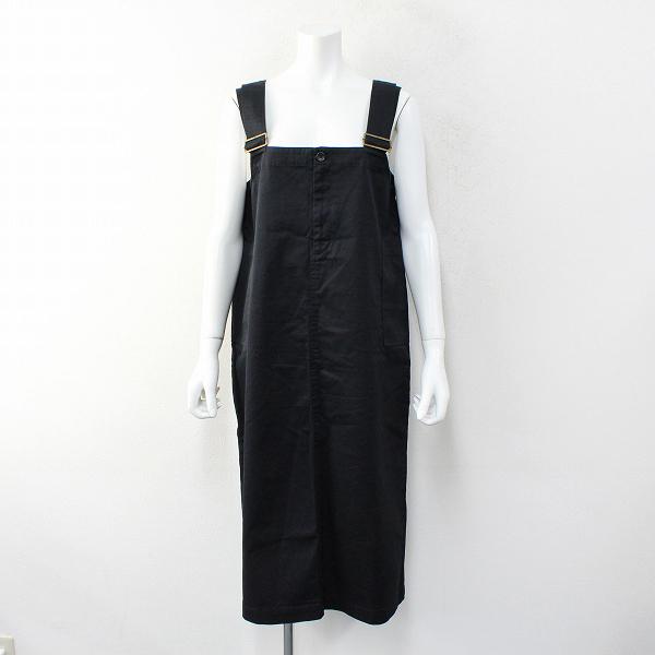 studio CLIP スタジオクリップ コットン ジャンパースカート L/ブラック【2400012354296】