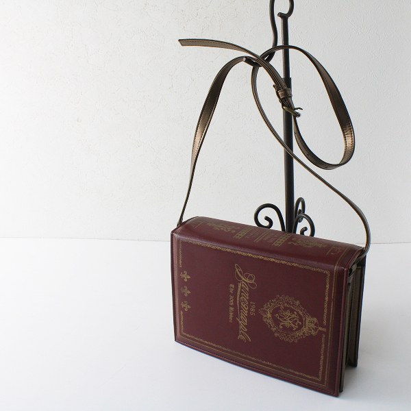 希少アイテム Jane Marple ジェーンマープル The 30th RIBBON BOOK ショルダーバッグ/レッド系 ブック型 BAG【2400012355682】
