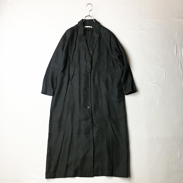 【期間限定20%OFF!】美品 2020SS evam eva エヴァムエヴァ E201T035 long tailored jacket ロングテーラードジャケット2/ブラック黒 アウター【2400012362772】