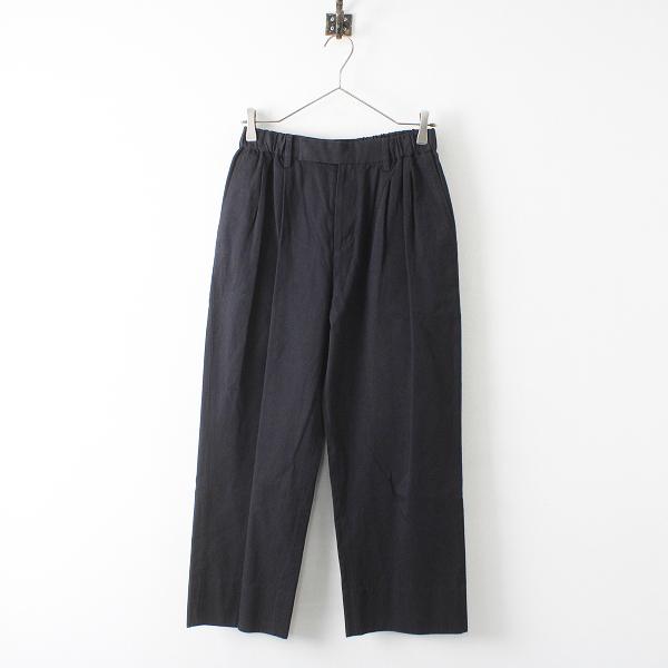 定価4.6万 2020SS ARTS&SCIENCE アーツ&サイエンス Easy wide trousers 1/ブラック イージーワイドトラウザーズ【2400012363038】