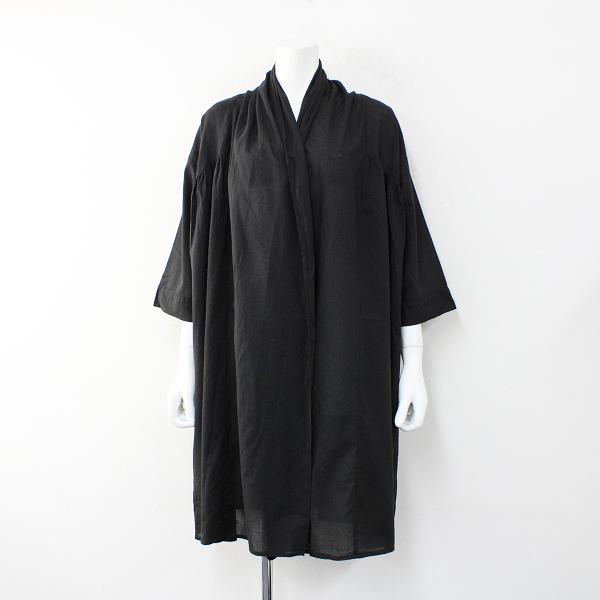 未使用 SM2 サマンサモスモス ガーゼギャザーショールF/羽織りブラック【2400012370678】