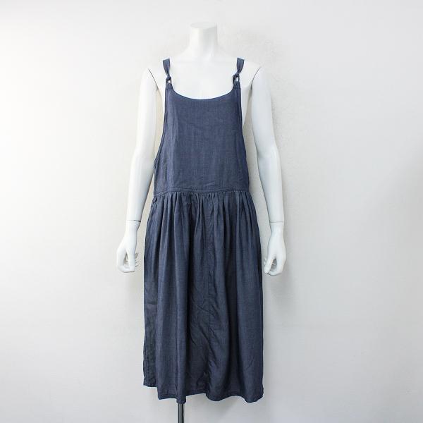 GRANDMA MAMA DAUGHTER グランマママドーター シャンブレー テンセル サロペットスカート 0/ネイビー フレア【2400012374690】