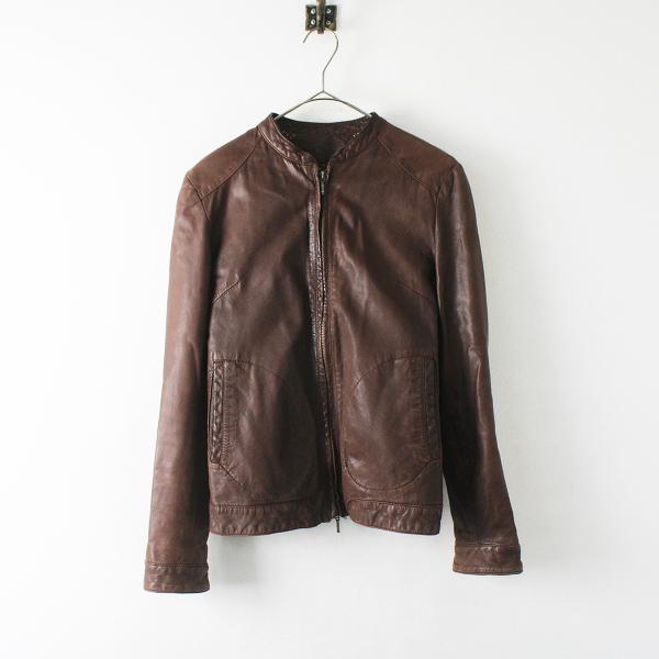 聖林公司 San Francisco サンフランシスコ ラムレザージップアップジャケット 36/ブラウン アウター ブルゾン 羊革【2400012382039】