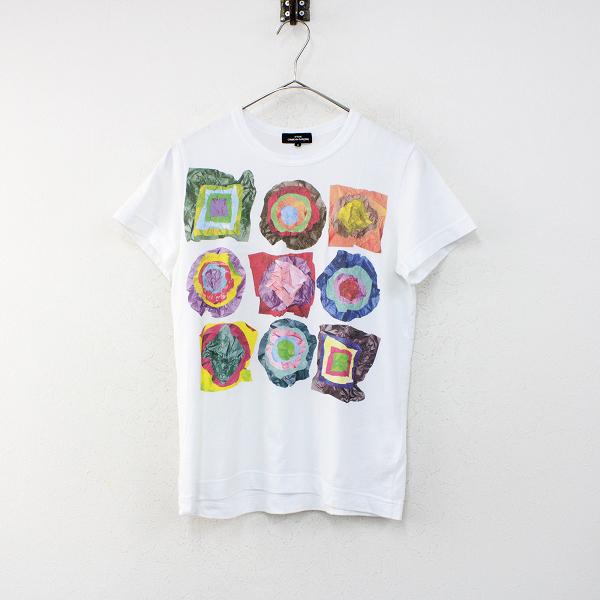 tricot COMME des GARCONS トリココムデギャルソン AD2018 コットン プリントTシャツ S/ホワイト トップス【2400012382527】