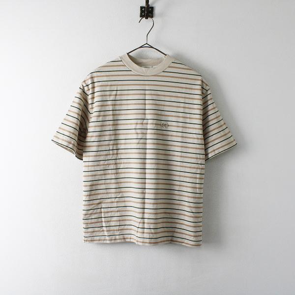 SCYE BASICS サイベーシックス コットン ボーダー Tシャツ 38/ベージュ トップス【2400012383227】