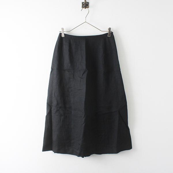 美品 chiclin チクリン リネン ロングスカート M/ブラック【2400012384859】