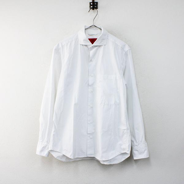 メンズ 2020AW TOMORROWLAND トゥモローランド BLUE WORK コットンポプリン ミリタリーシャツ XS/ホワイト白 トップス【2400012386716】