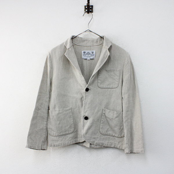 R&D.M.Co- オールドマンズテーラー リネン キャンバスジャケット M/ベージュ アウター【2400012387539】