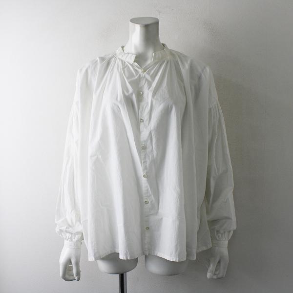 humoresque ユーモレスク FA2201 gather blouse cotton コットン ギャザーブラウス F/ホワイト シャツ【2400012387768】