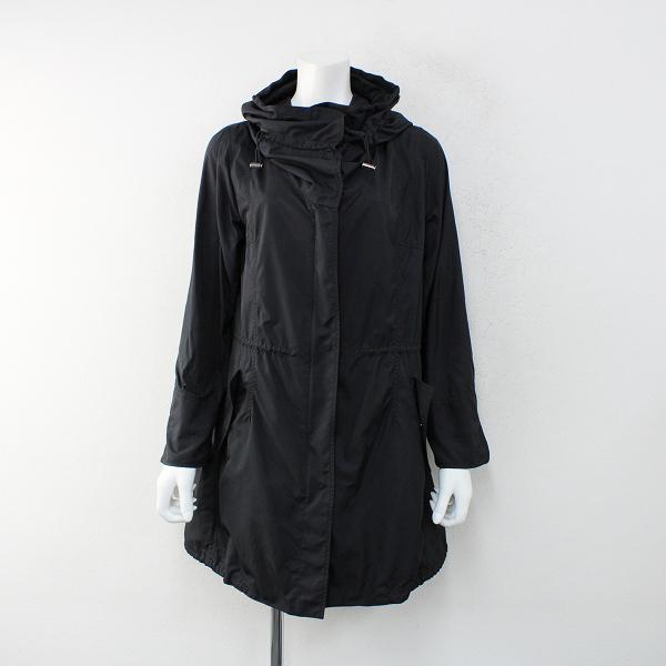 CK Calvin Klein カルバンクライン ポリエステル ミリタリーコート 4/ブラック フード【2400012389441】