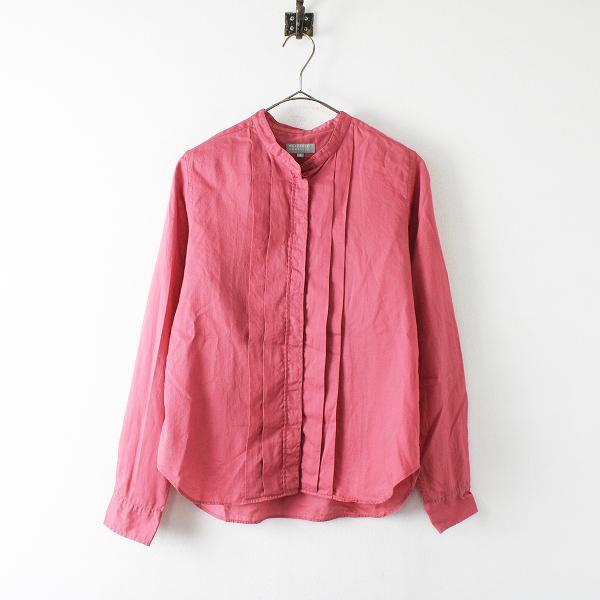 MARGARET HOWELL マーガレットハウエル コットン ピンタック カラーレスシャツ 2/ピンク【2400012391703】