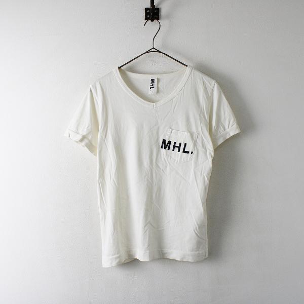 MHL. MARGARET HOWELL マーガレットハウエル コットン ポケットロゴTシャツ 2/オフホワイト【2400012391727】