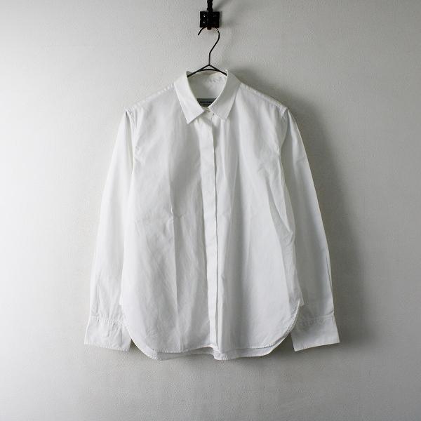 2020AW JOHN SMEDLEY ジョンスメドレー A2703FB310 コットンブロードレギュラーカラーシャツ1/ホワイト白 ブラウス【2400012391970】