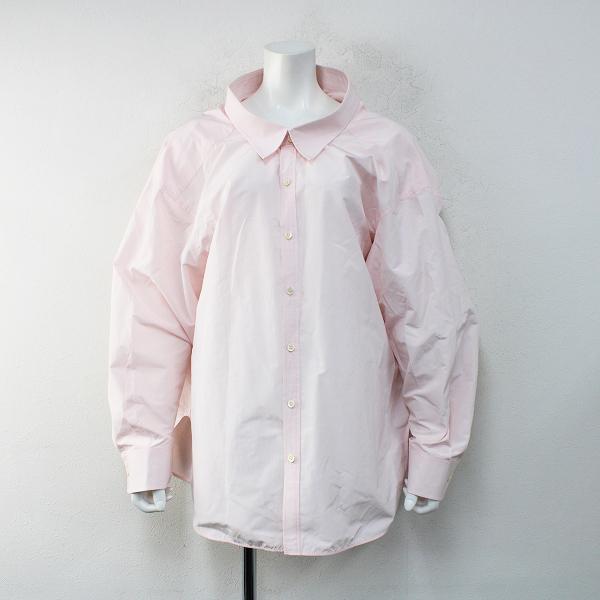 国内正規品 2016 BALENCIAGA バレンシアガ ピンチドカラーシャツ 34/ピンク ビッグシルエット【2400012392724】