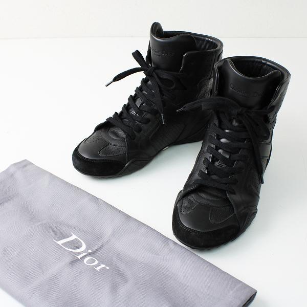 Christian Dior クリスチャンディオール ハイカットスニーカー 34/ブラック J'ADIOR【2400012392809】