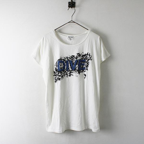 marble SUD マーブルシュッド DIVE ORCA BIG フレンチスリーブ Tシャツ F/ホワイト カットソー【2400012394643】