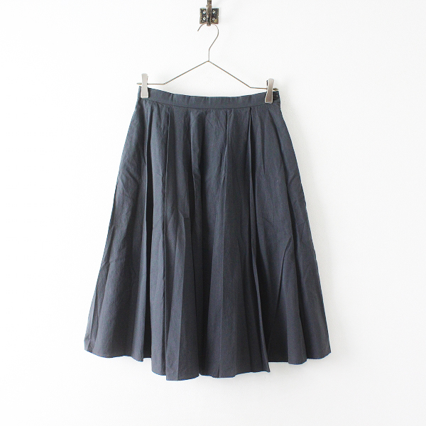 MARGARET HOWELL マーガレットハウエル コットン タックプリーツスカート 1/チャコールグレー ボトムス【2400012395640】