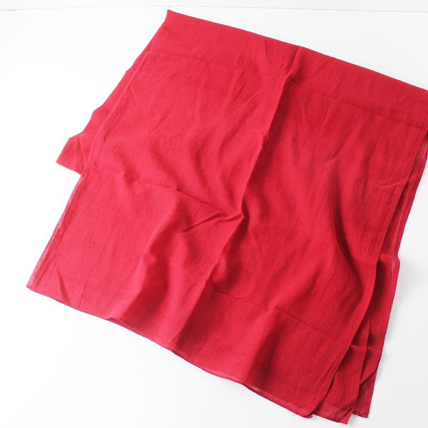 新品 未使用 定番アイテム FACTORY ファクトリー A-01 手織りコットン大判ストール/レッド赤 ショール オオバン【2400012397682】