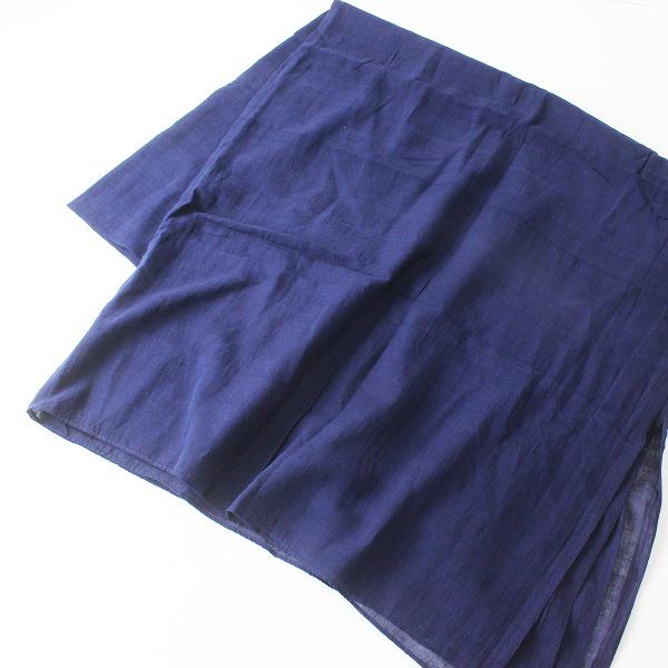 新品 未使用 定番アイテム FACTORY ファクトリー A-01 手織りコットン大判ストール/ネイビー ショール オオバン【2400012397699】