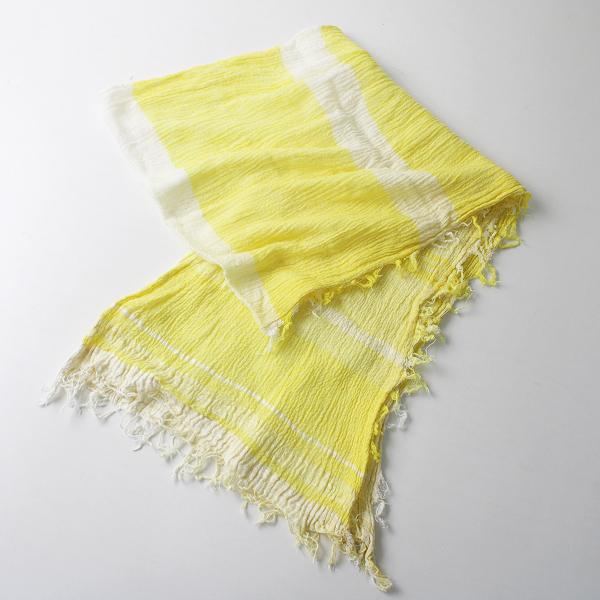 tamaki niime タマキニイメ 玉木新雌 オンリーワン roots shawl コットンルーツショール ミドル/イエロー系 ストール【2400012400504】