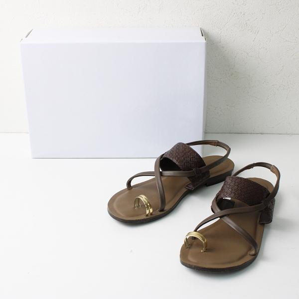 2020SS RIM.ARK リムアーク Emboss low heel sandal エンボスローヒールサンダル M/ブラウン サムリング【2400012400924】
