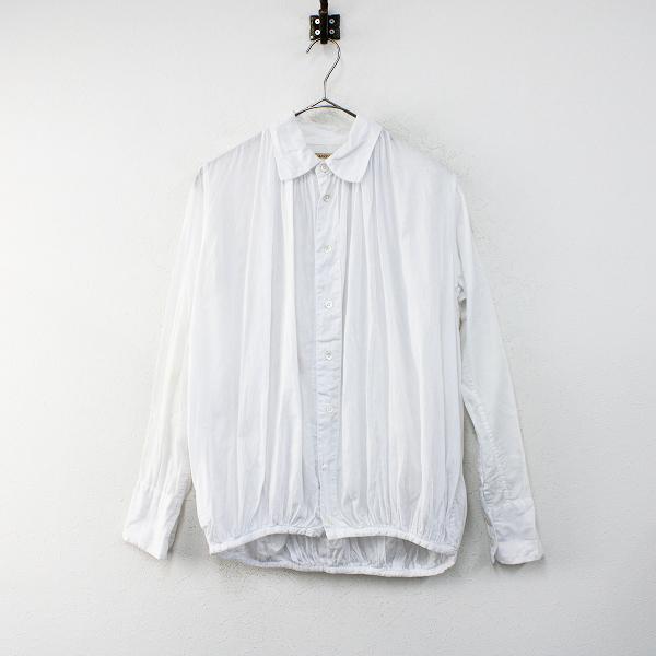 KAPITAL キャピタル コットン バックギャザーシャツ S/ホワイト トップス【2400012402249】