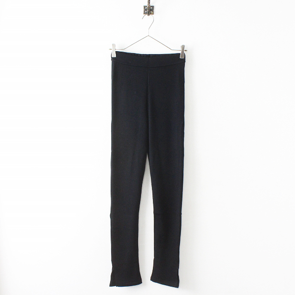新品 未使用 2018AW Deuxieme Classe ドゥーズィエムクラス Jersey Slit leggins ジャージースリットレギンスF/ブラック【2400012402812】-