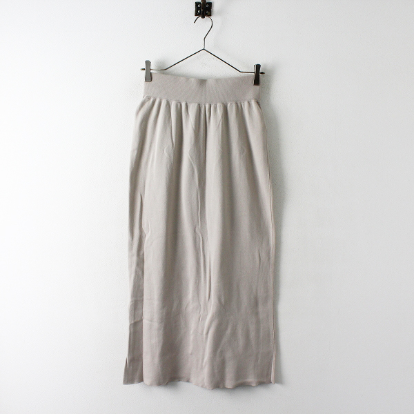 美品 2020SS IENA イエナ 3/60 cotton ニットスカート 36/ベージュ ボトムス【2400012404007】