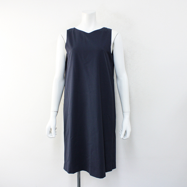 美品 2021SS Theory セオリー Tailor Narlica ノースリーブワンピース 2/ダークネイビー 新型シフトドレス【2400012406063】