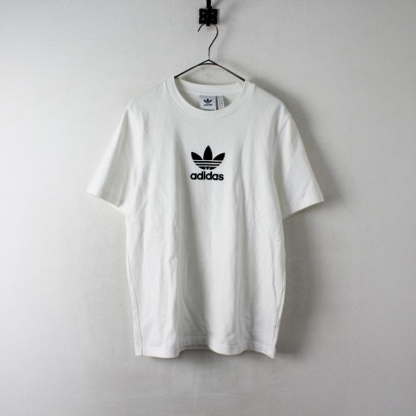 adidas Originals アディダスオリジナルス FM9920 トレフォイルプリント クルーネックTシャツ M/ホワイト メンズ【2400012408708】