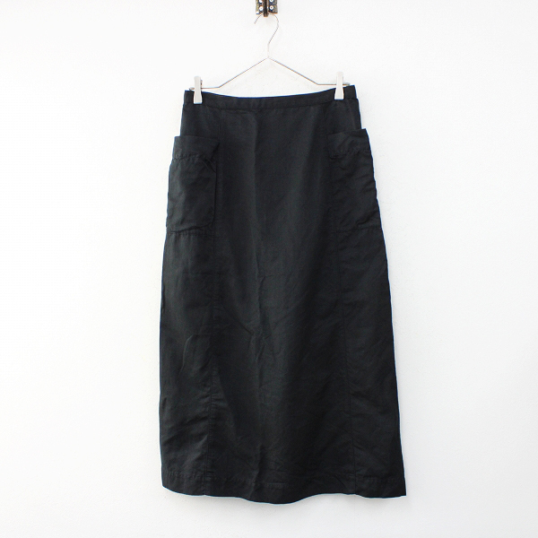 2019SS Lisette リゼッタ リネン コットン セミタイトスカート 38/ブラック ボトムス【2400012409866】